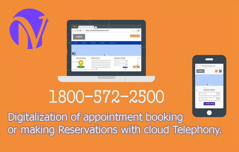 Digitalization of appointment booking or making Reservations with cloud Telephony